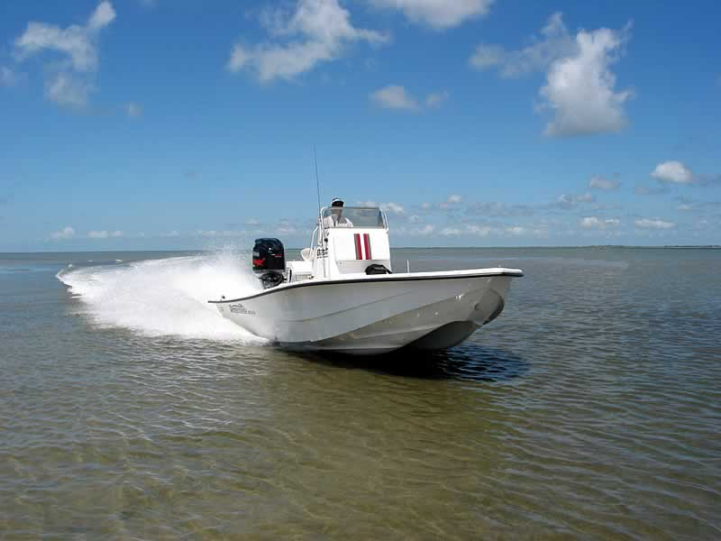 shallow draft fishing boats